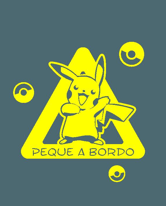 pegatina bebe a bordo pikachu pokemon