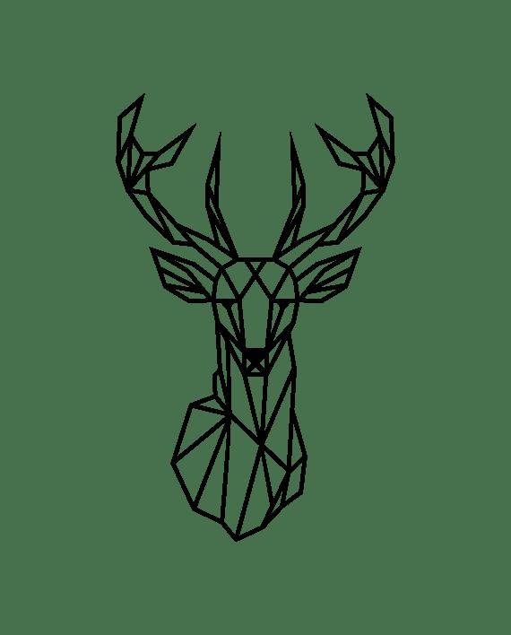 ciervo geométrico vinilo decorativo