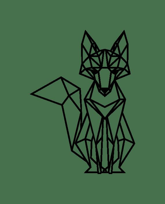 vinilo decorativo zorro geométrico