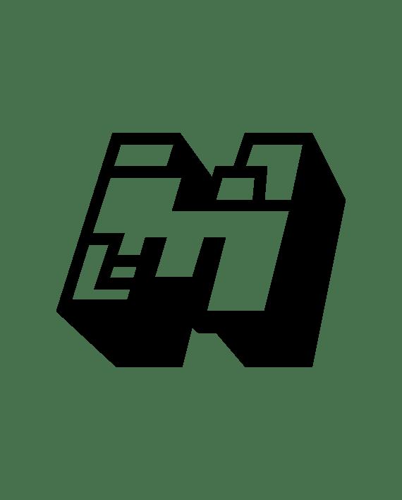 pegatina minecraft logo m