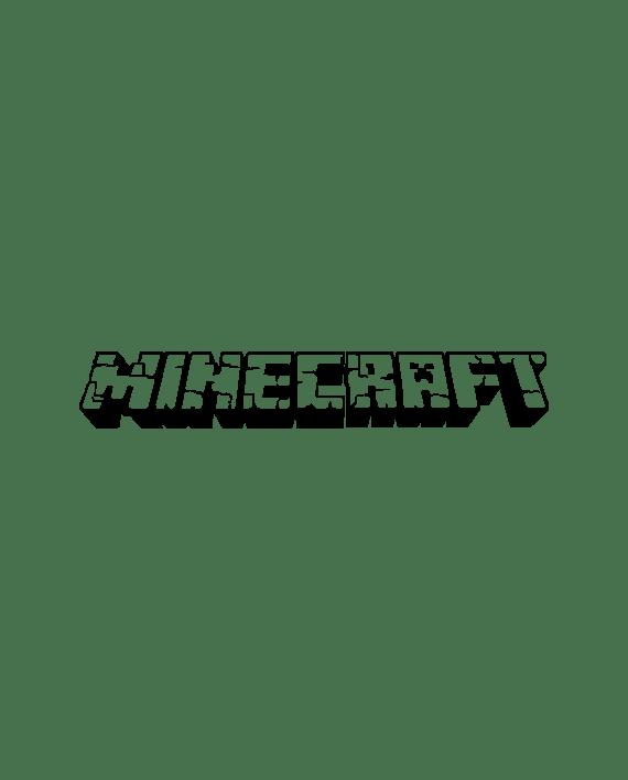 pegatina minecraft logo letras