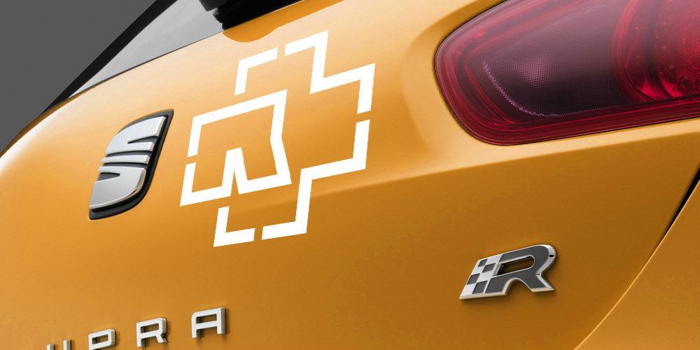 pegatina rammstein logo