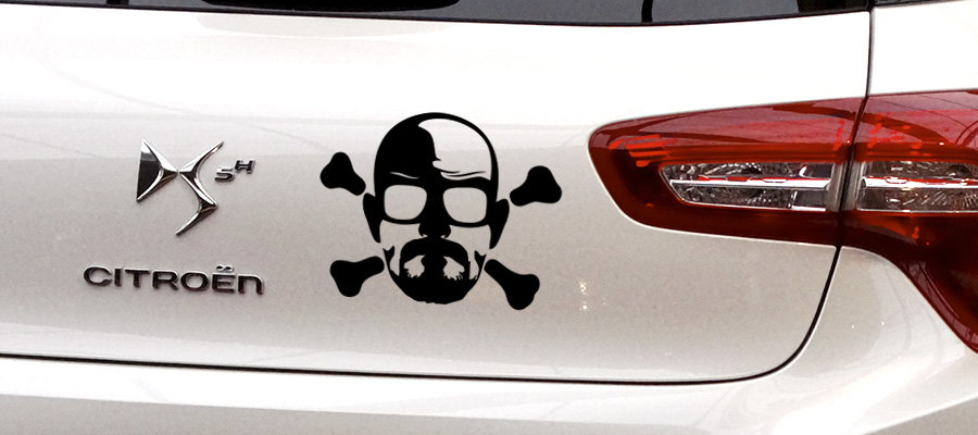 pegatina heisenberg danger breaking bad