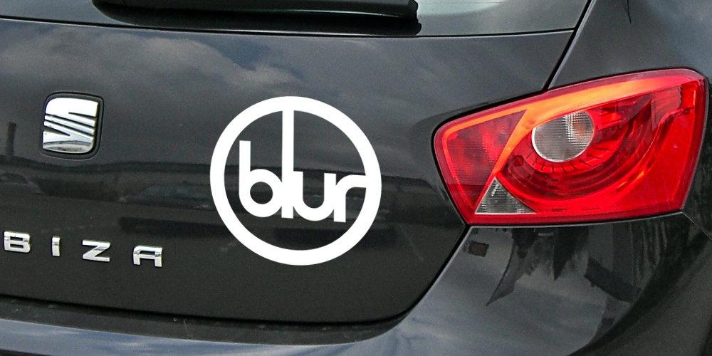 pegatina blur logo coche tablet moto portatil vinilo