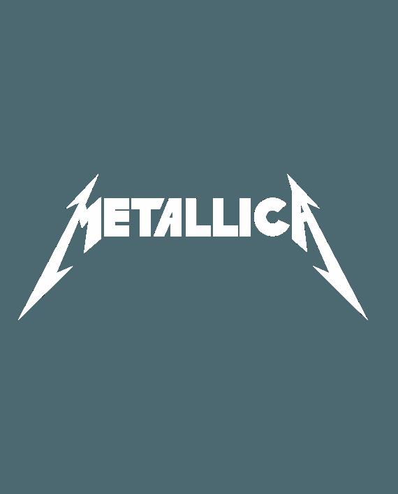 pegatina metallica logo letras clasico