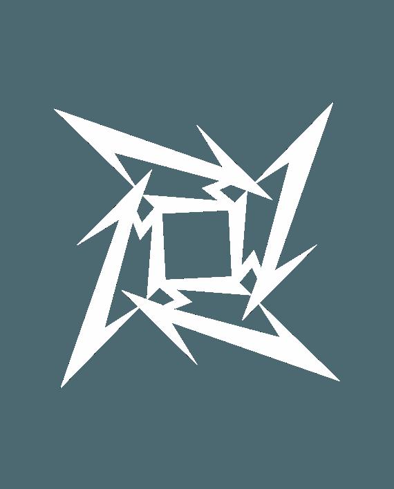 pegatina metallica logo