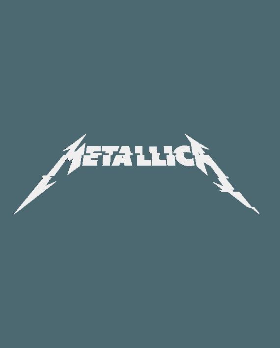 pegatina metallica logo letras nuevo