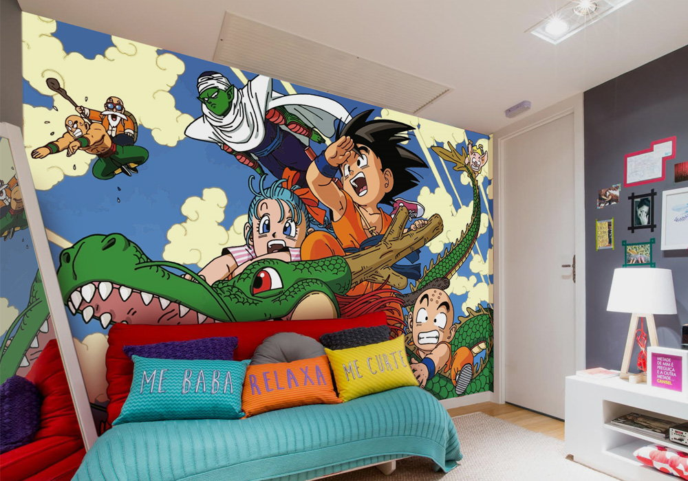vinilo impreso dragon ball mural