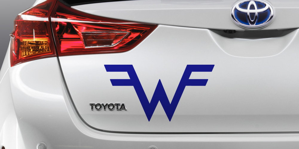 pegatina logo weezer coche moto portatil