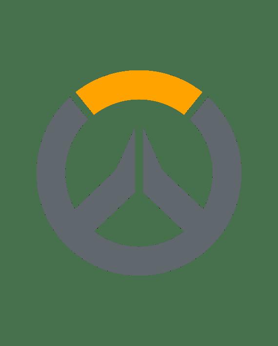 pegatina overwatch vinilo dos colores