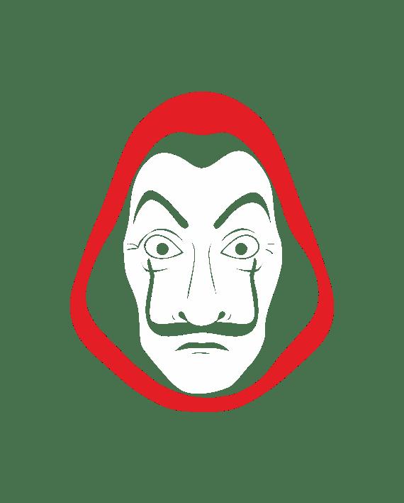 pegatina la casa de papel dali mascara