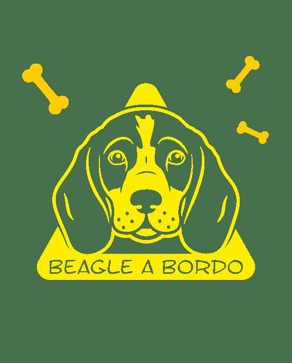 perro a bordo beagle bebe a bordo pegatina