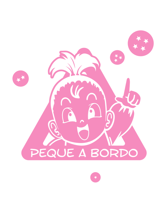 bebe a bordo pan dragon ball