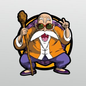 pegatina muten roshi dragon ball