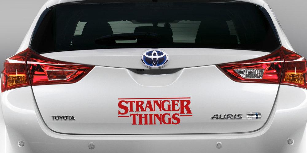 pegatina stranger things vinilo coche logo