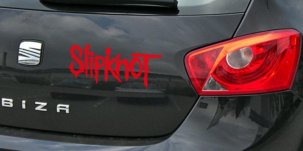 adheisivo slipknot logo vinilo exterior