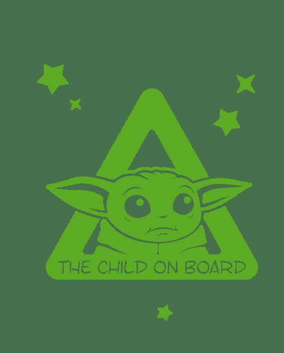 baby yoda bebe a bordo the child mandalorian star wars