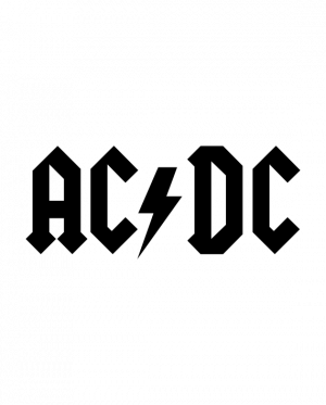 pegatina AC DC vinilo troquelado