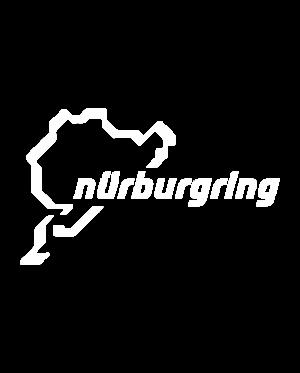 pegatina circuito nurburgring vinilo troquelado