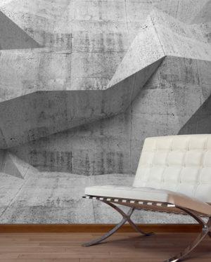 vinilo textura hormigón polígonos aristas mural