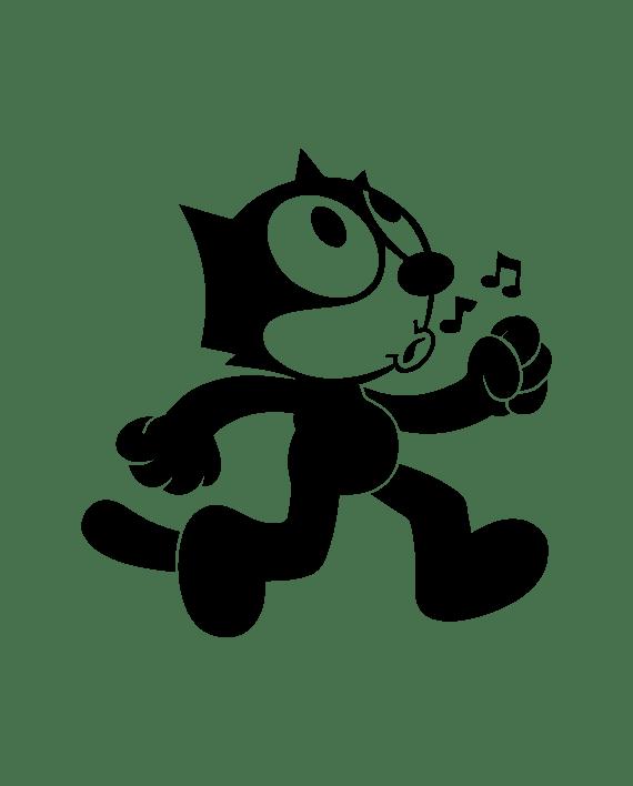 pegatina fellix el gato cabeza vinilo troquelado
