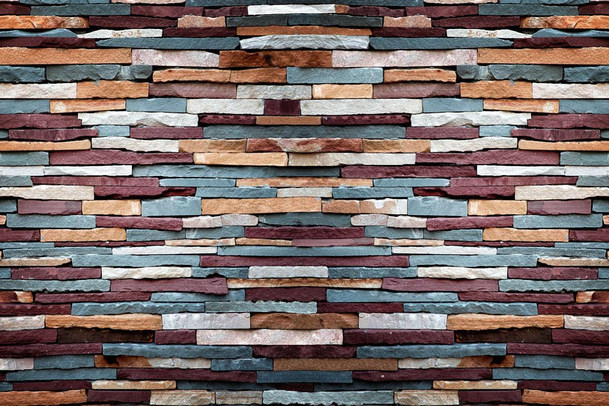 vinilo pared ladrillos piedra colores mural