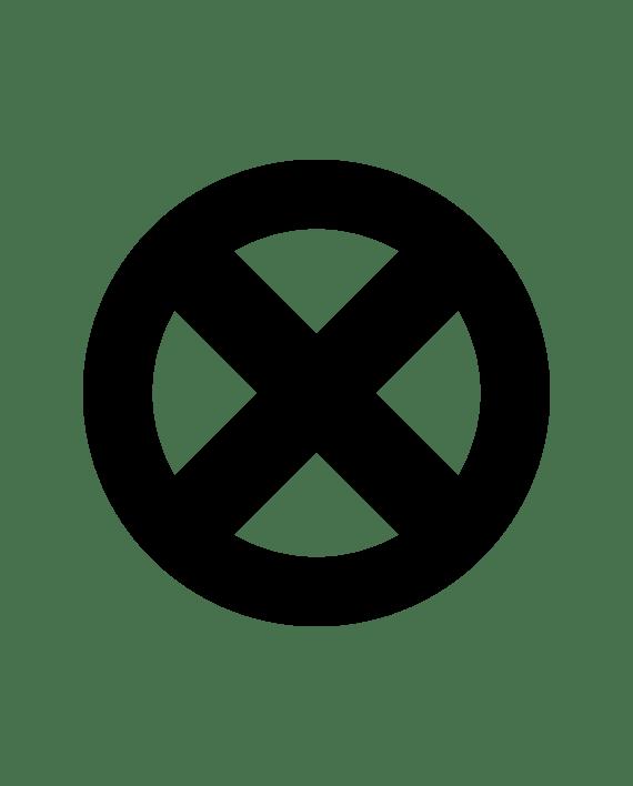 pegatina x-men simbolo vinilo troquelado