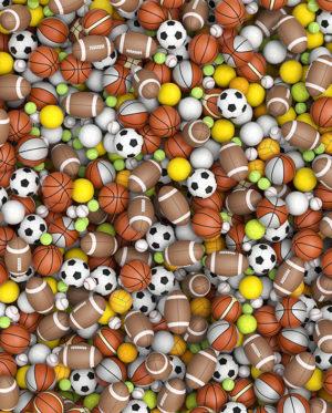 vinilo pelotas balones mural impreso