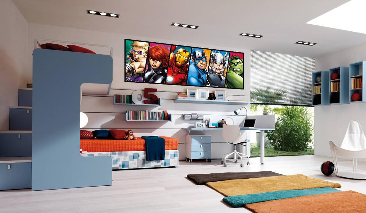 vengadores vinilo avengers comic color mural