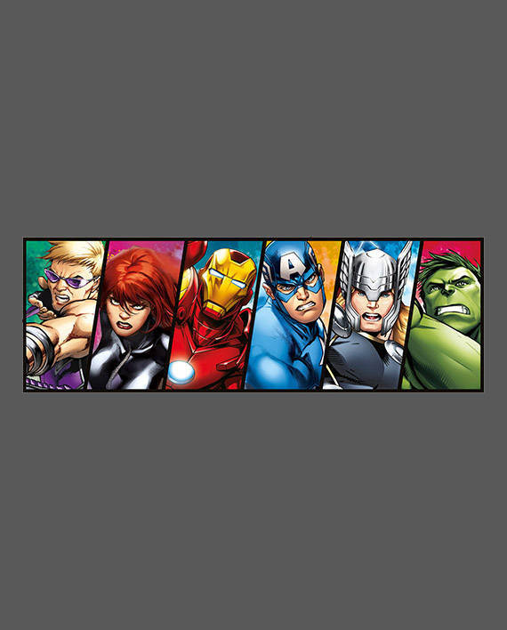 vinilo vengadores avengers comic color mural decoración