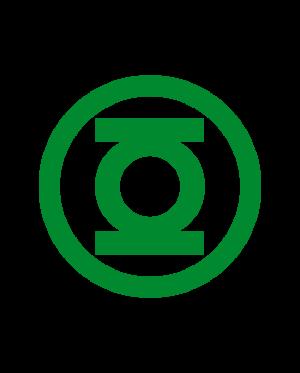 pegatina linterna verde logo circulo vinilo troquelado
