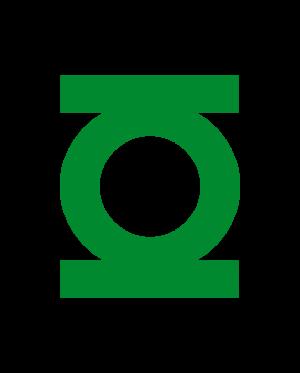 pegatina linterna verde símbolo vinilo troquelado