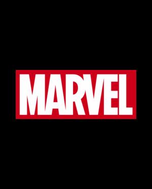 pegatina marvel logo 2 colores vinilo de corte