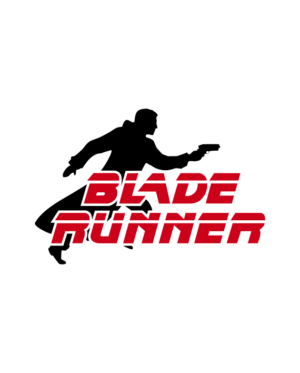 pegatina blade runner logo personaje vinilo