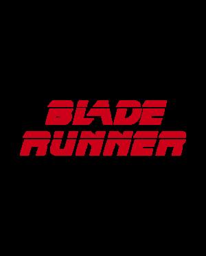 pegatina blade runner letras logo vinilo