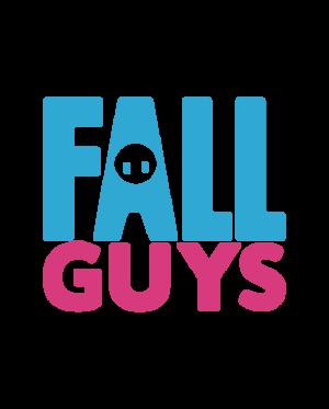pegatina fall guys logo letras vinilo 2 colroes
