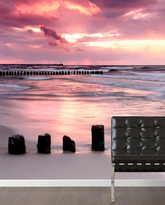 vinilo playa amanecer tranquilidad mural vinilo