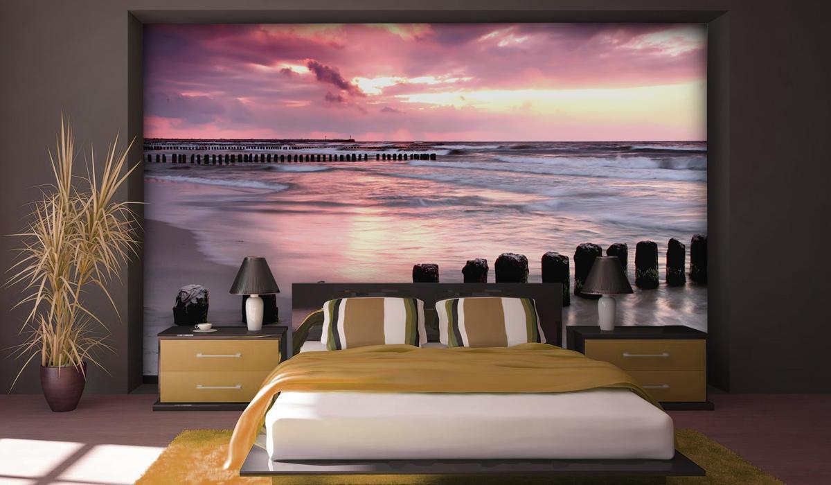 vinilo playa amanecer calma tranquilidad mural vinilo