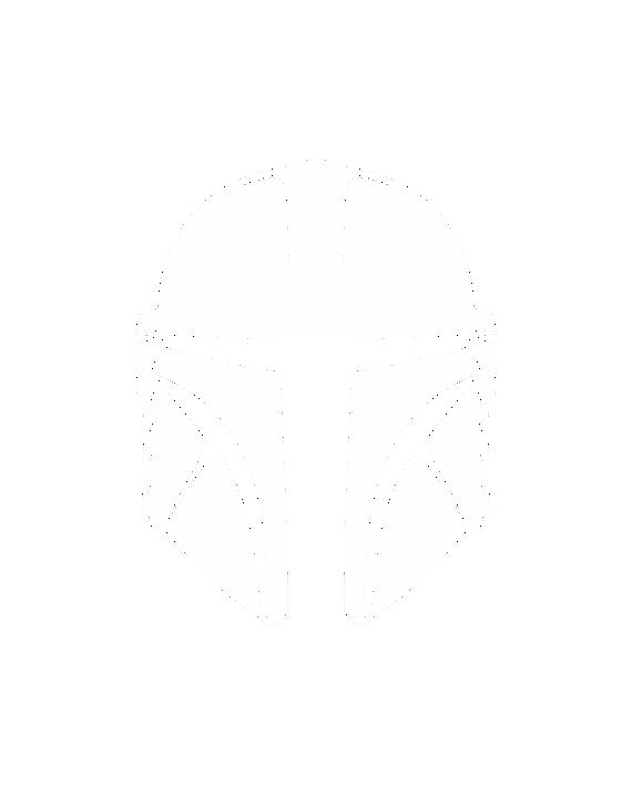 pegatina mandalorian casco star wars